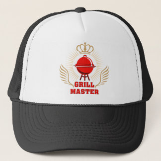 king OF the grill grill master Trucker Hat