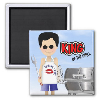 King of the Grill Magnets