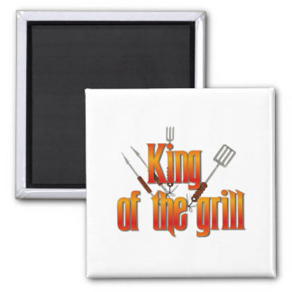 King of the Grill Magnet