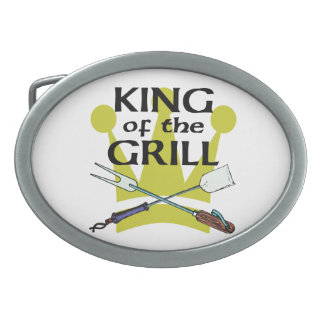 King of the Grill Oval Belt Buckle