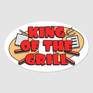 King Of The Grill Oval Sticker