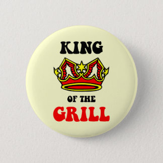 King of the Grill Pinback Button