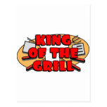 King Of The Grill Post Card