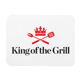 King of the Grill Rectangular Photo Magnet