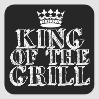 King of the Grill Square Sticker