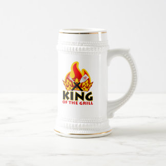 King Of The Grill stein 18 Oz Beer Stein