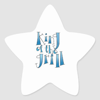 King Of The Grill Star Sticker