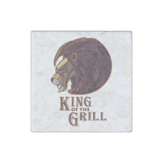 King of the Grill Stone Magnet