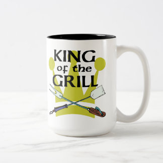 King of the Grill Two-Tone Coffee Mug