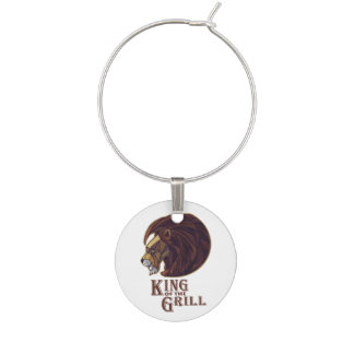 King of the Grill Wine Charm