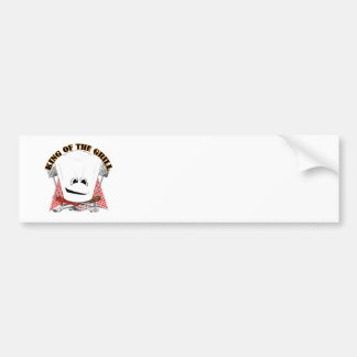 King of the Grill with Chef Hat and BBQ Tools Car Bumper Sticker