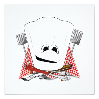 King of the Grill with Chef Hat and BBQ Tools Card