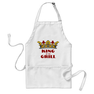 King of the Grill with Crown Adult Apron