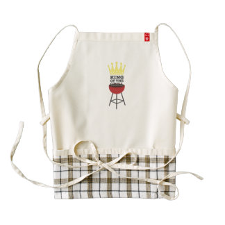King of the grill zazzle HEART apron