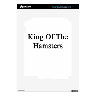 King Of The Hamsters Decal For iPad 3