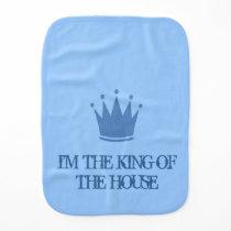 KING OF THE HOUSE BURP CLOTH