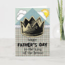 King of the House Father's Day Card