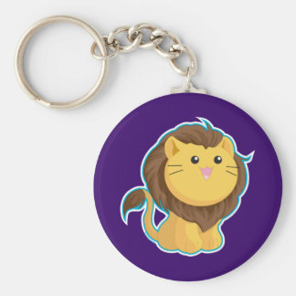 King of the Jungle Basic Round Button Keychain