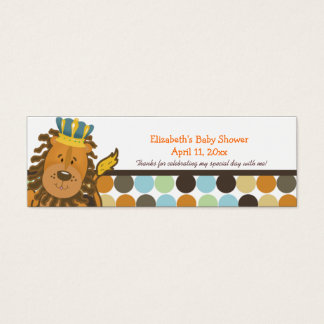 King of the Jungle Customized Favor Tag Card
