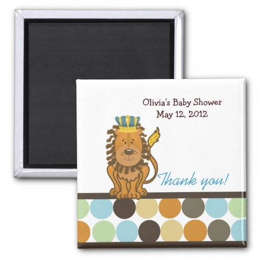 King of the Jungle Favor Magnet