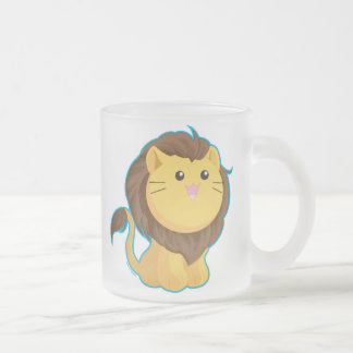 King of the Jungle Frosted Glass Coffee Mug