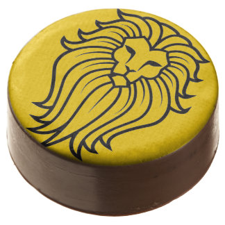 King of the Jungle Gold Lion Chocolate Dipped Oreo