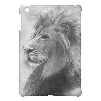 King of the Jungle, Hand drawn Lion in Graphite iPad Mini Cases