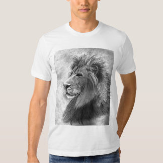 King of the Jungle, Hand drawn Lion in Graphite T Shirt