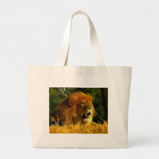 King of the Jungle Large Tote Bag