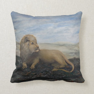 King of the Jungle Leo the Lion PAINTING ART PILLO Throw Pillow