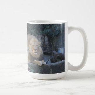 King of the Jungle 'Lion' Classic White Coffee Mug