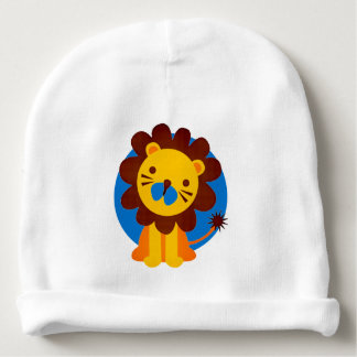 KING OF THE JUNGLE LION COTTON BABY BEANIE