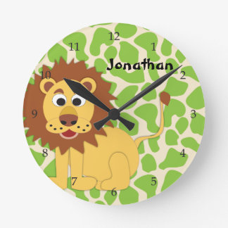 King of the Jungle/Lion Personalized Wall Clock