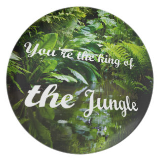 King of the jungle melamine plate