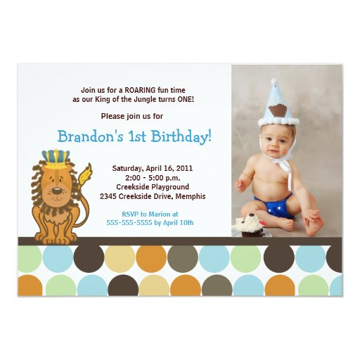 King of the Jungle *PHOTO* Birthday 5x7 Card