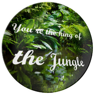 King of the jungle porcelain plate