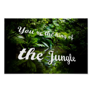 King of the jungle poster