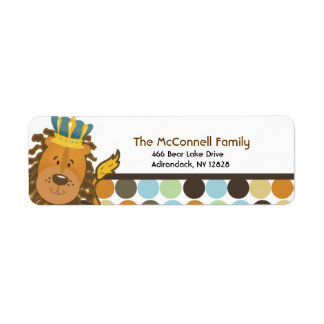 King of the Jungle PRINTABLE ADDRESS LABELS