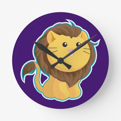 King of the Jungle Round Wall Clocks