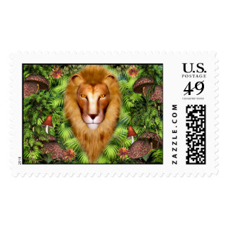 King Of The Jungle Stamp