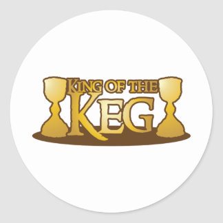 king of the keg classic round sticker