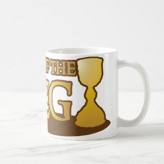 king of the keg classic white coffee mug