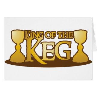 king of the keg greeting card