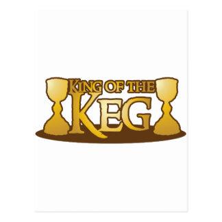 king of the keg postcard