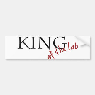 King of the Lab Bumper Sticker