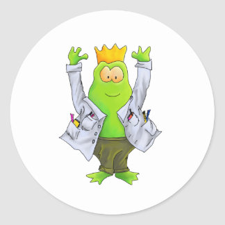 King of the Lab Classic Round Sticker