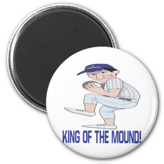 King Of The Mound 2 Inch Round Magnet