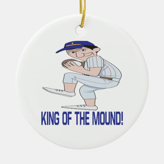 King Of The Mound Ceramic Ornament