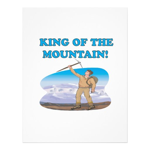 "King Of The Mountain 8.5"" X 11"" Flyer"