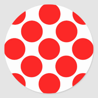 King of the Mountain dots Classic Round Sticker